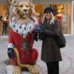 With one of Munich's many lions