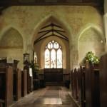 Inside St Nicholas. Where Robyn contemplates.