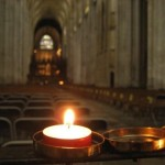 Winchester Cathedral – where Katherine lights a candle for Jane Austen.