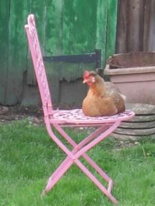 Nancy on chair